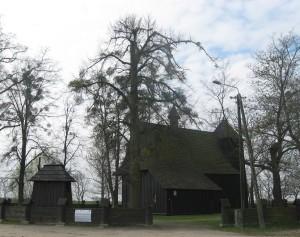 Drewniane kościoły ziemi wieluńskiej - Grębień