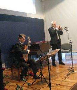 Z gitarą Tadeusz Karolczak, z trąbką Leszek Wolniak