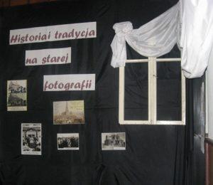 Fragment dekoracji w sali budynku OSP w której odbyła się inauguracja projektu