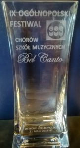 Pamiątka z IX Ogólnopolskiego Festiwalu Chórów Szkół Muzycznych