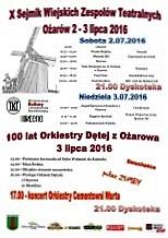 Zaproszenie na Sejmik Teatrów Wiejskich w Ożarowie