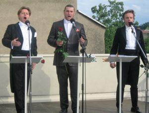 Od lewej Tomasz Tracz, Aleksander Kruczek, Aleksander Jan Zuchowicz