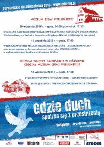 Propozycje Muzeum Ziemi Wieluńskiej na Europejskie Dni Dziedzictwa