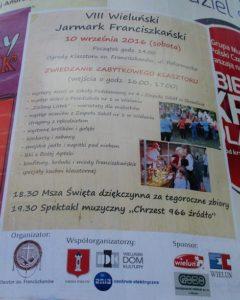 Program na kolejną edycję Jarmarku Franciszkańskiego