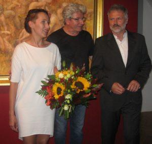 Od lewej: Anna Stankiewicz, Janusz Strobel, Daniel Pielucha