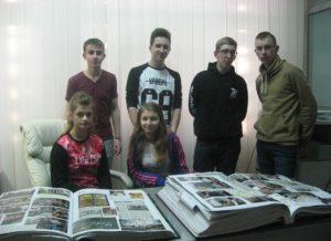 Młodzi członkowie Towarzystwa Przyjaciół Wielunia z Zespołu Szkół nr 1
