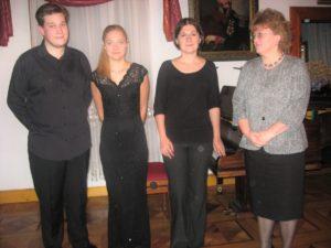 Od lewej: Robert Łaguniak, Amelia Maszońska, Hanna Holeska, Ewa Kafel