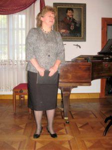 Prowadząca koncert Ewa Kafel