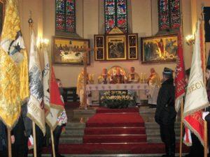 Celebransi Mszy św. Od lewej: ks. Andrzej Walaszczyk, ks. Jacek Zieliński, ks. Marian Mermer, ks. Jarosław Boral, ks. Andrzej Kornacki