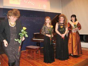 Od lewej: Ewa Kafel, Agnieszka Sawicka, Małgorzata Warcaba, Karolina Wieczorek