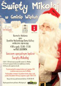 Plakat zapraszający na spotkanie z Mikołajem