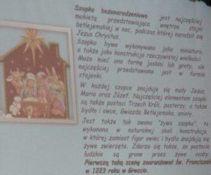 Fragment prezentacji poświęconej szopkom Bożonarodzeniowym
