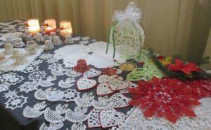 Ozdoby świąteczne wykonane w trakcie zajęć Koła Robótek Ręcznych