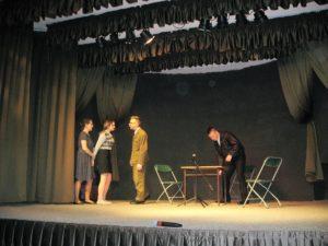 Scena aresztowania bohaterki