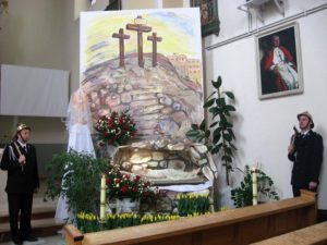 Grób Pański w kościele Marii Magdaleny w Ożarowie