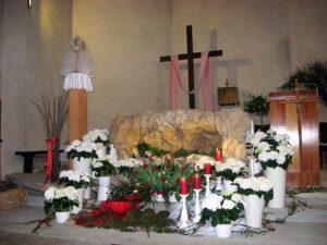 Grób Pański w parafii św. Barbary w Wieluniu