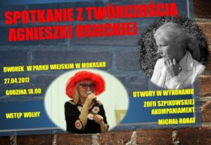 Zaproszenie na recital Zofii Szpikowskiej