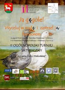 Plakat zapraszający do udziału w II Turnieju Satyrycznym