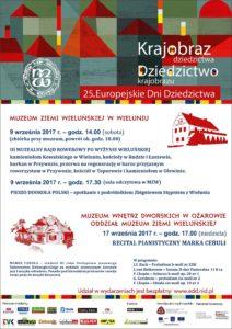Plakat zapraszający na Europejskie Dni Dziedzictwa