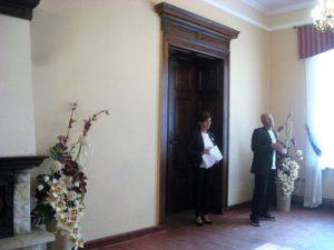 Gości witają Jolanta Gardian i Rajmund Kieler