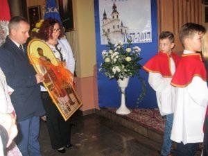Ikona św. Józefa ofiarowana Parafialnemu Oddziałowi Akcji Katolickiej