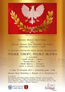 """Zaproszenie na koncert """"Polskie strofy, polska muzyka"""""""