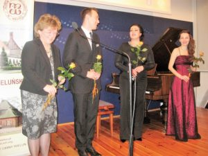 Od lewej Ewa Kafel, Dawid Biwo, Mirella Malorny, Kamila Nowak