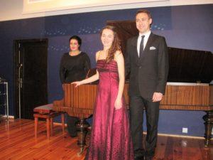 Od lewej Mirella Malorny, Kamila Nowak, Dawid Biwo