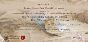 Zaproszenie na otwarcie wystawy pokonkursowej