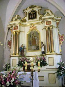 Ołtarz współczesny p.w. św. Wawrzyńca