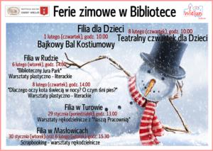 Informacja o feriach zimowych w filiach MiGBP